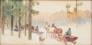Adam Setkowicz (1875 Kraków - 1945 tamże), Na polowanie