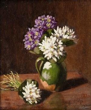 Mieczysław Reyzner (1861 Lwów - 1941 tamże), Kwiaty w zielonym dzbanie, 1931 r.