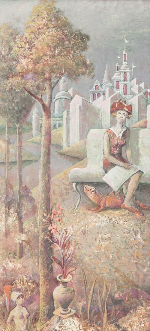 Ildefons Houwalt (1910-1987), W magicznym ogrodzie, 1969 r.