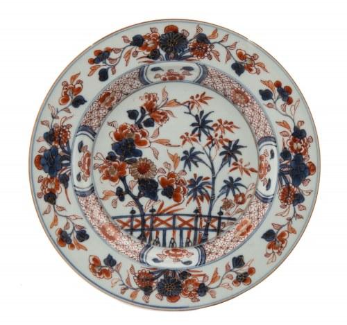 Talerz w stylu imari, Chiny, okres Qianlong (1736-1795)