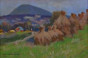 Bronisława Rychter-Janowska (1868-1953), Pejzaż górski ze stogami siana, 1929