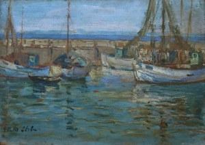Erno Erb (1890-1943), Łodzie w porcie na Helu, 1933