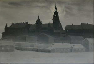 Stanisław Ignacy Fabijański (1865-1947), Widok na Wawel, 1922