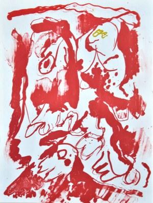 Pierre Alechinsky (Ur. 1927), Czerwona abstrakcja, 1962