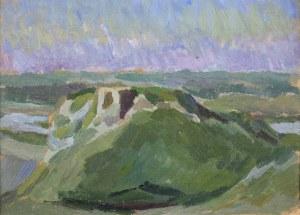 Stanisław Kamocki (1875-1944), Pejzaż z ruinami zamku - Czorsztyn?, ok. 1910