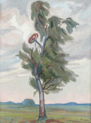 Emil KRCHA (1894-1972), Pejzaż z drzewem