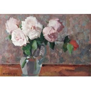Stanisław GAŁEK (1876-1961), Róże w wazonie, 1936