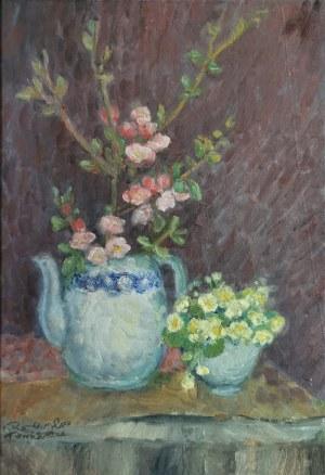 Halina BRZESKA-CIEŚLIŃSKA (1923-2004), Martwa natura z kwiatami