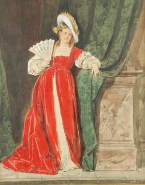 Władysław BAKAŁOWICZ (1833-1903), Dama z wachlarzem