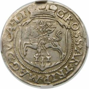Zygmunt II August, Trojak 1563, Wilno – LI/LI