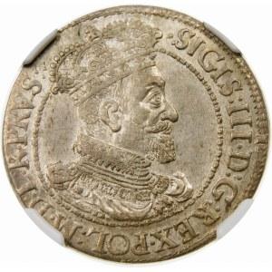 Zygmunt III Waza, Ort 1617, Gdańsk – rozetka – piękna