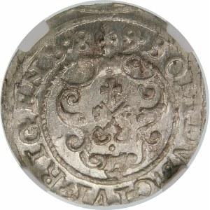 Zygmunt III Waza, Szeląg 1589/8, Ryga – przebitka daty