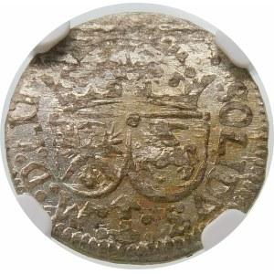 Zygmunt III Waza, Szeląg 1616, Wilno – trójlistek