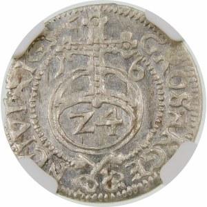 Zygmunt III Waza, Grosz 1616, Ryga – M L – herb bez krzyża – bardzo rzadka