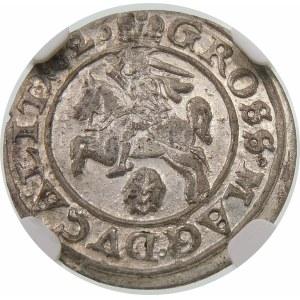 Zygmunt III Waza, Grosz 1626, Wilno – Pogoń nie w tarczy