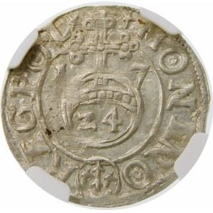 Zygmunt III Waza, Półtorak 1617, Bydgoszcz – Sas w tarczy owalnej – SIGI ... P M D L