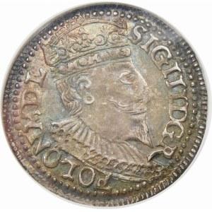Zygmunt III Waza, Trojak 1596, Olkusz – leżąca 6 w dacie
