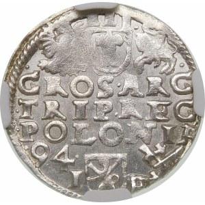 Zygmunt III Waza, Trojak 1594, Poznań – korona z lilią – hybryda
