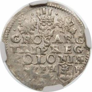 Zygmunt III Waza, Trojak 1597, Poznań – data rozdzielona znakiem mincerskim