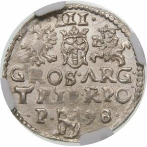 Zygmunt III Waza, Trojak 1598, Poznań – P z lewej – ΛRG