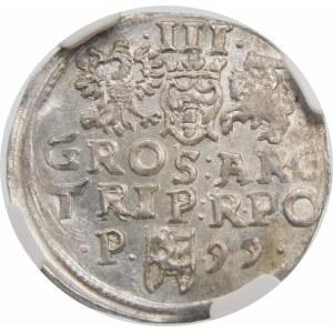 Zygmunt III Waza, Trojak 1599, Poznań – P z lewej - kropki