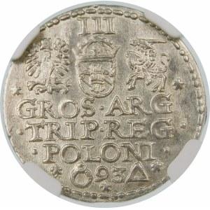 Zygmunt III Waza, Trojak 1593, Malbork