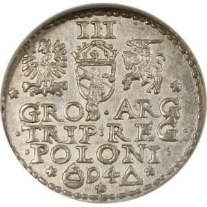 Zygmunt III Waza, Trojak 1594, Malbork – pierścień zamknięty