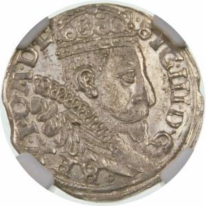 Zygmunt III Waza, Trojak 1597, Bydgoszcz – kokarda, napis w dwóch wierszach – hybryda