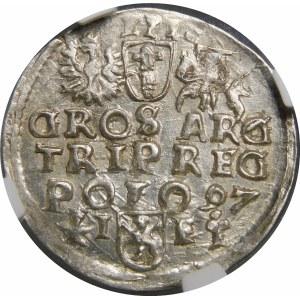 Zygmunt III Waza, Trojak 1597, Wschowa – wąskie popiersie – nieopisana odmiana