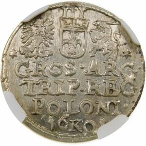 Zygmunt III Waza, Trojak 1601, Kraków – głowa w prawo
