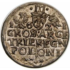 Zygmunt III Waza, Trojak 1621, Kraków – przebitka