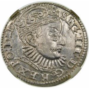 Zygmunt III Waza, Trojak 1588, Ryga – duże popiersie