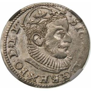 Zygmunt III Waza, Trojak 1589, Ryga – GE pomiędzy lilijkami – ciekawostka - rzadka