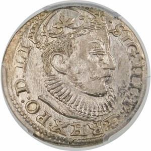 Zygmunt III Waza, Trojak 1589, Ryga – lilijka z jednej strony GE – krzyżyki