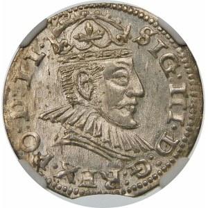 Zygmunt III Waza, Trojak 1590, Ryga – małe popiersie – kropki