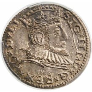Zygmunt III Waza, Trojak 1591, Ryga – nieopisana odmiana – korona zwieńczona jabłkiem królewskim