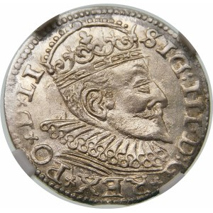 Zygmunt III Waza, Trojak 1594, Ryga – LI – krzyżyki i kropki
