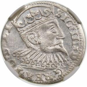 Zygmunt III Waza, Trojak 1599, Ryga – kryza nie dzieli napisu