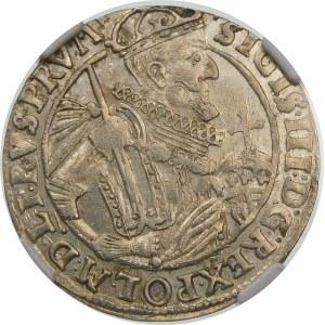 Zygmunt III Waza, Ort 1623, Bydgoszcz – PRV M – korona z krzyżykami i pałąkami