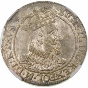 Zygmunt III Waza, Ort 1618, Gdańsk – listek klonu – rzadka i piękna