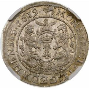 Zygmunt III Waza, Ort 1619/8, Gdańsk – S B pod łapami – przebitka