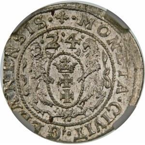 Zygmunt III Waza, Ort 1624, Gdańsk – data bez przebicia – PR