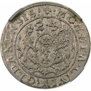 Zygmunt III Waza, Ort 1624/3, Gdańsk – data przebita ∙2∙4 – PRV – rzadsza