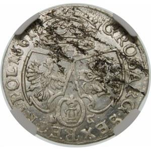 Jan II Kazimierz, Szóstak 1661 NG, Poznań – głowa lwa – bez obwódek