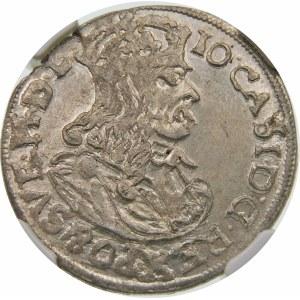 Jan II Kazimierz, Szóstak 1663 AT, Kraków – bez obwódek
