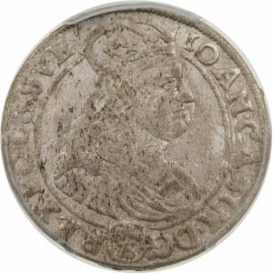 Jan II Kazimierz, Szóstak 1667 TLB, Bydgoszcz – z obwódkami