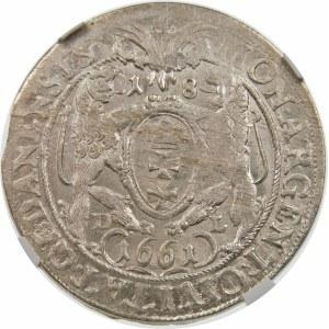 Jan II Kazimierz, Ort 1661, Gdańsk – z naramiennikiem
