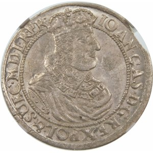 Jan II Kazimierz, Ort 1664, Gdańsk – herbem Lewart w tarczy