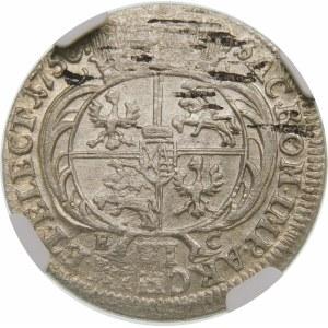 August III Sas, Szóstak 1756 EC, Lipsk – odmiana