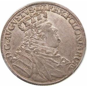 August III Sas, Ort 1755 EC, Lipsk – małe popiersie – odmiana – rzadka